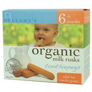 【全场免邮+注册满减】Bellamy& 039s 贝拉米 有机婴幼儿磨牙饼干 100g 澳洲直邮 !
