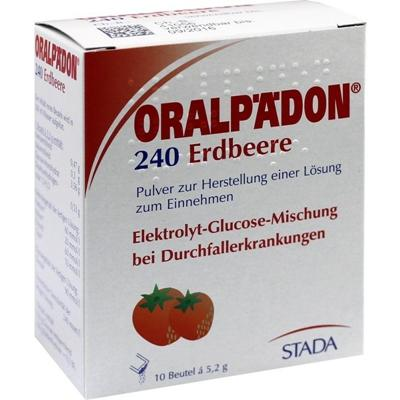 满66欧包邮包税+特价 Oralpaedon 草莓电解质葡萄糖止泻粉 10包