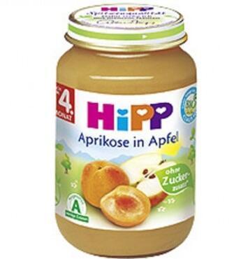 满66欧包邮包税+特价 Hipp 喜宝 有机杏子苹果泥 190g 4个月+