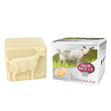 Billie Goat Soap 比利天然山羊奶手工皂 3 x 100g