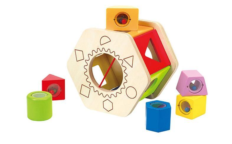 海豚村【包邮装】Hape 婴孩积木六角分类积木盒 E0407  海淘包邮价:149元
