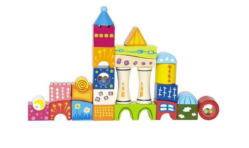 海豚村【包邮装】Hape 奇幻城堡积木大颗粒玩具 E0418  海淘包邮价:178元