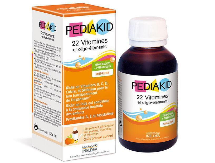 海豚村【包邮装】Pediakid 佩迪克 22种维生素综合糖浆 125ml  海淘包邮价:95元