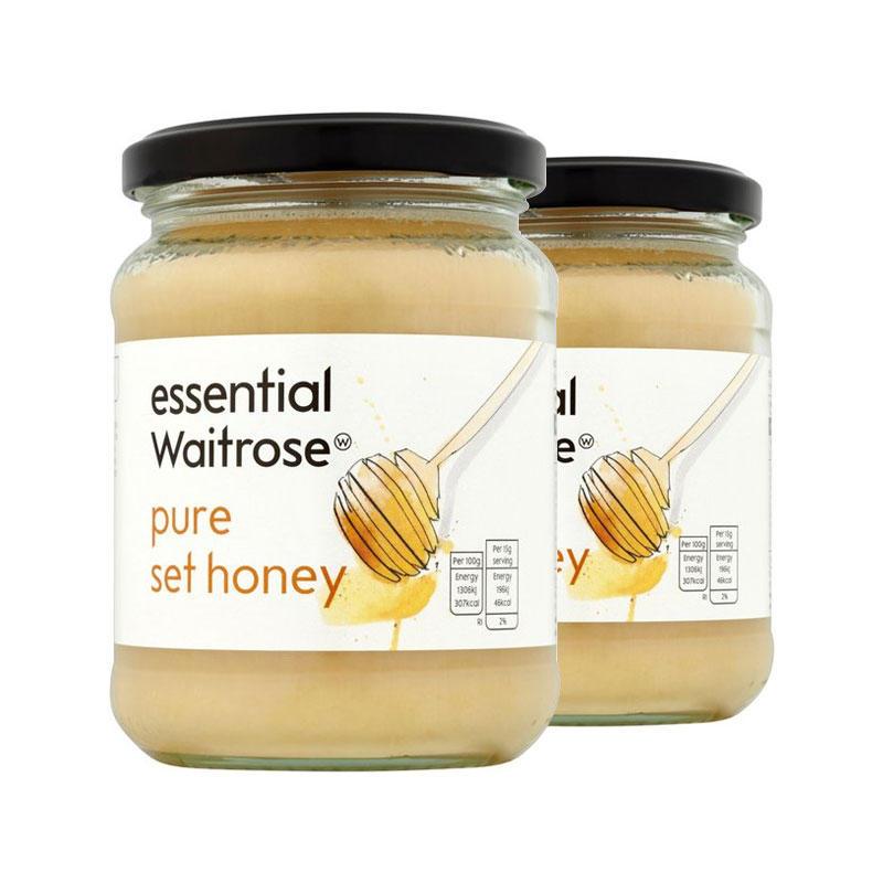 海豚村【2件包邮装】Waitrose 纯结晶蜂蜜 2454g 瓶(玻璃罐装)