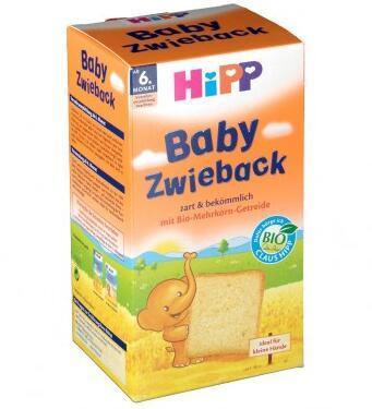 满66欧包邮包税+满75欧减3欧+特价 Hipp 喜宝 有机全麦磨牙面包干 100g 6个月+