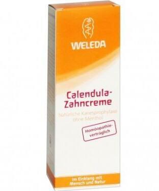 满66欧包邮包税+满76欧减3欧+特价 WELEDA 维蕾德 金盏花植物牙膏 75ml 孕妇可用