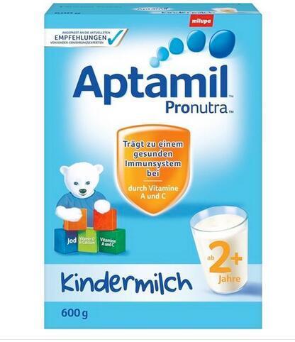 【4盒用码包邮还送巧克力】推荐2 Aptamil 爱他美幼儿配方奶粉2+段(2岁以上) 600g