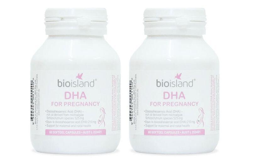 【2件包邮装】Bio Island 生物岛 孕妇专用DHA胶囊 2x60粒 瓶(帮助胎儿发育)  海淘包邮价:259元