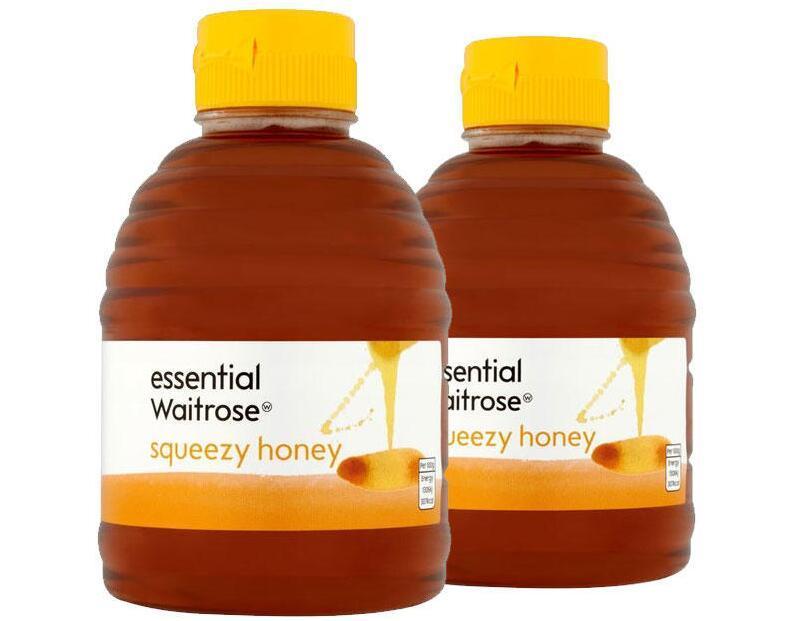 【2件包邮装】Waitrose 纯清澈蜂蜜 2x454g 瓶(挤压罐装)  海淘包邮价:88元