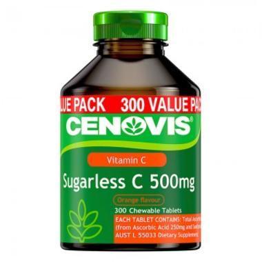 Cenovis 无糖维他命C 维生素C 咀嚼片 增强免疫抗感冒 300片