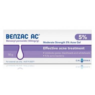 Benzac 温和控油去痘5%凝胶 50g