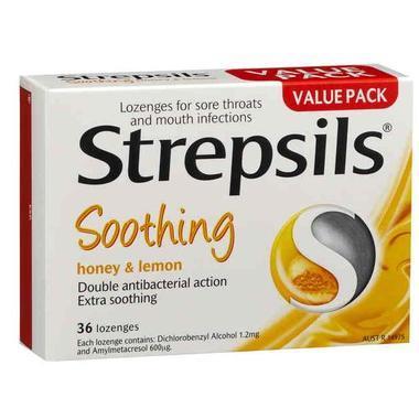 Strepsils 咽炎含片 36片 (杀菌防感染 蜂蜜柠檬味)