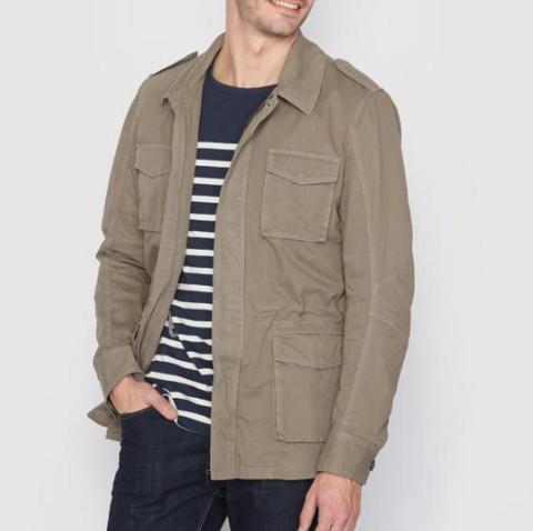 单品:R essentiel 男士军装夹克