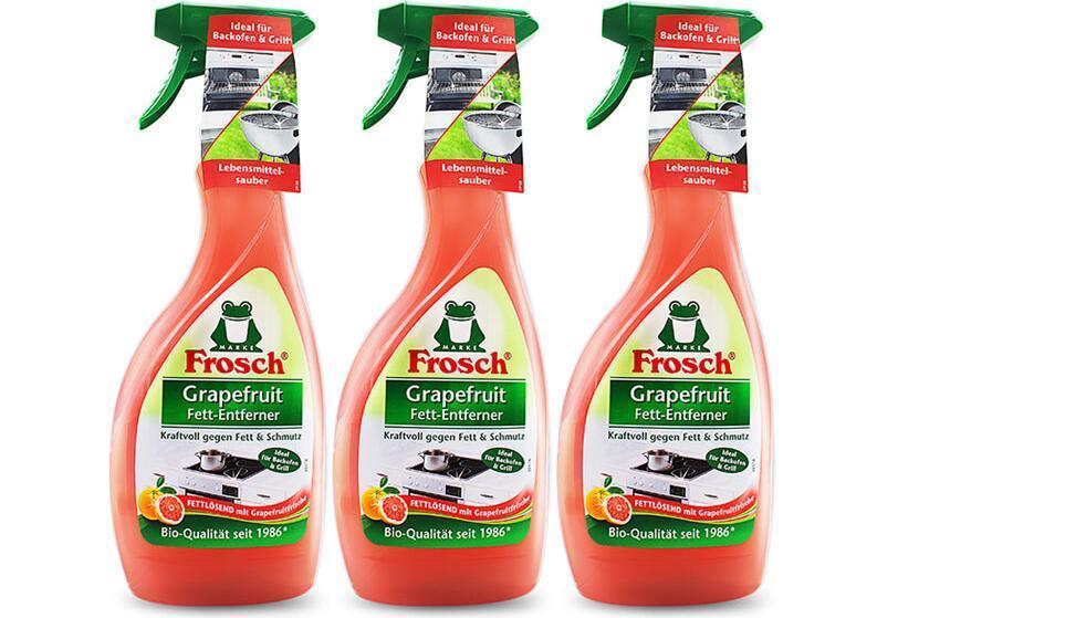 【3件包邮装】Frosch 菲洛施 厨房重油污清洁剂 3x500ml 瓶(西柚配方)  海淘包邮价:105元