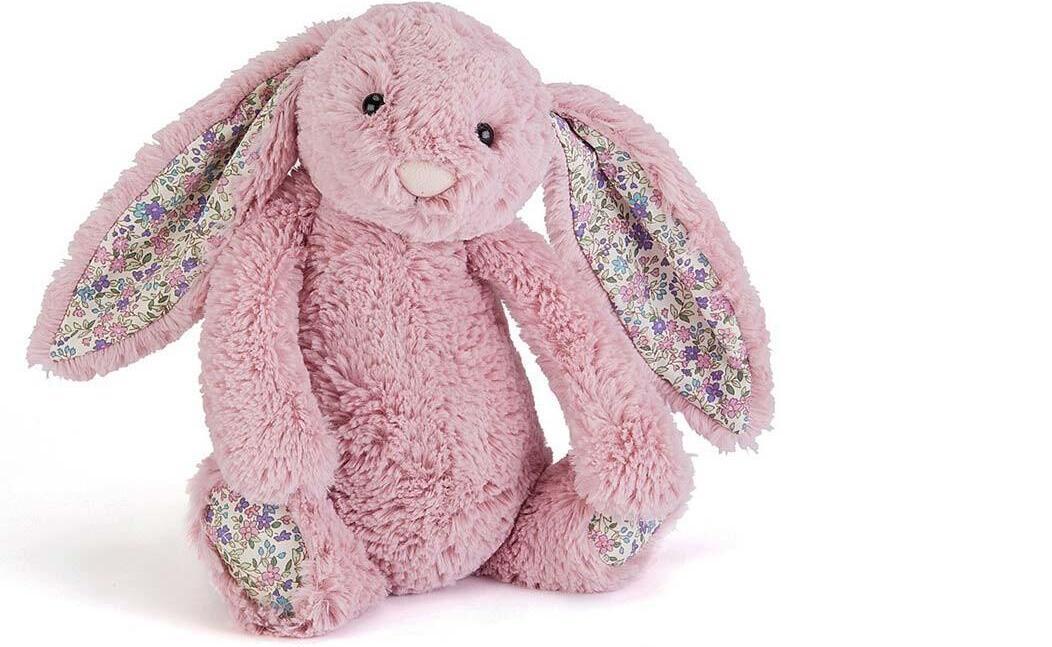 【包邮装】JellyCat 柔软安抚玩偶邦尼兔 1只(碎花粉色 M中号 31cm)  海淘包邮价:155元
