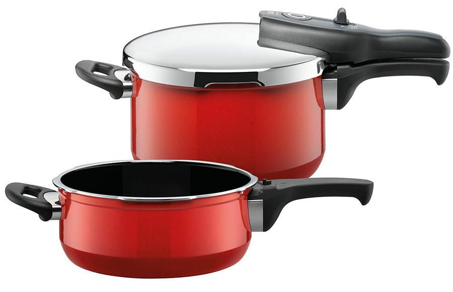 【推荐】Silit喜力特 希拉钢压力锅3件套红色 4 5L+3L(多重优惠+全额税补)