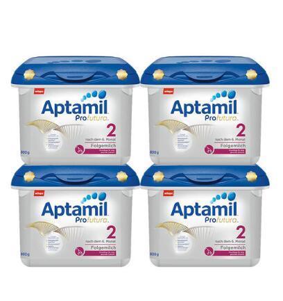 【用码包直邮】 Milupa Aptamil 爱他美白金版婴儿配方奶粉 2段(6-12个月)800g 4盒装