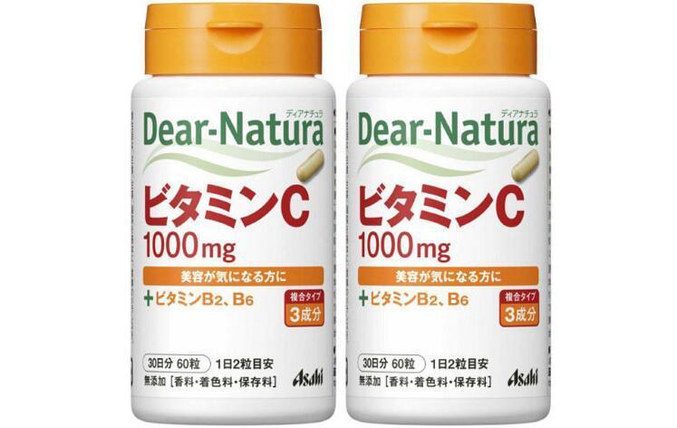 开年减肥专场【2件包邮装】Asahi 朝日 Dear Natura天然维生素C/VC 2x60粒  秒杀券后价:75元