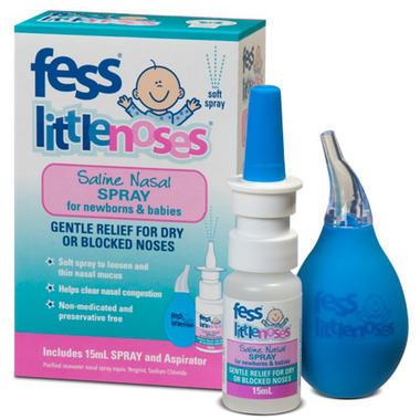 Fess little nose 婴幼儿盐水通鼻喷雾剂15ml+吸鼻器