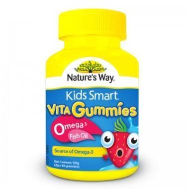 Nature&#039s Way 佳思敏 Omega-3儿童鱼油咀嚼软糖 60粒
