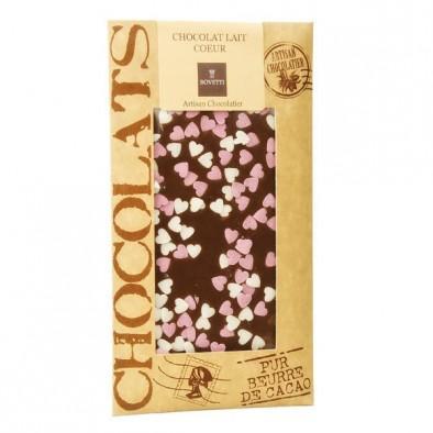 满50欧享邮费6折 Bovetti chocolats 心型装饰粒牛奶巧克力板 100g 块