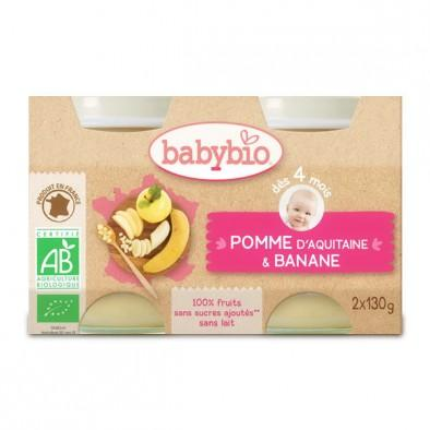 babybio 伴宝乐婴儿辅食 有机水果泥 苹果香蕉口味 130g2 适合4个月以上宝宝