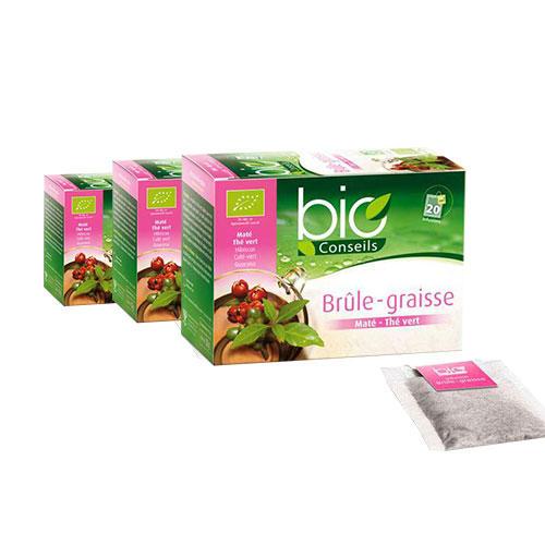 满50欧享邮费6折 Bio Conseils 天然有机燃脂清肠健康茶 20袋3
