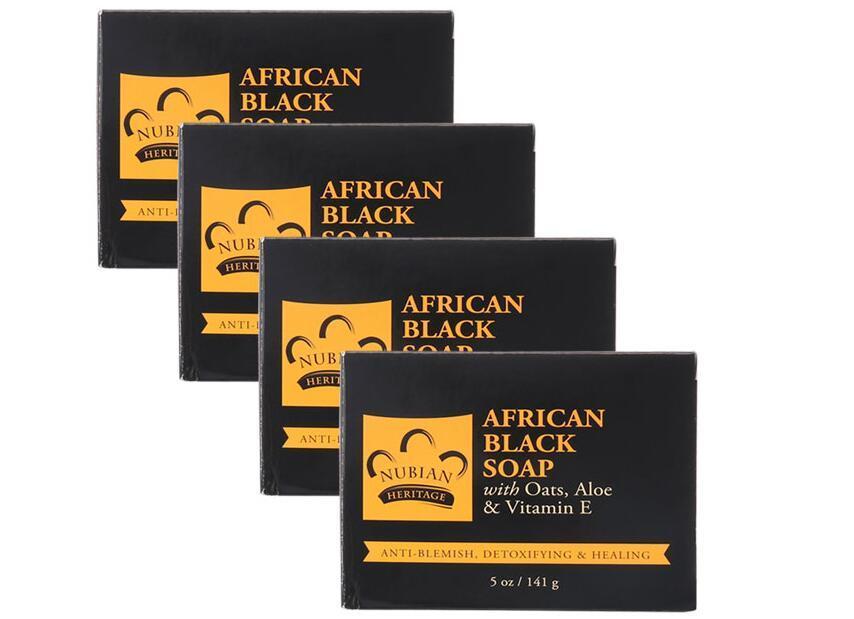 开年减肥专场【4件包邮装】Nubian 南非黑香皂棒 4x141g 活动秒杀价:135元