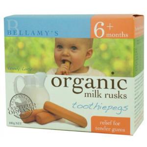 【全场梯度满减】全网最低价!Bellamy& 039s 贝拉米 有机婴幼儿磨牙饼干 100g 澳洲直邮 !