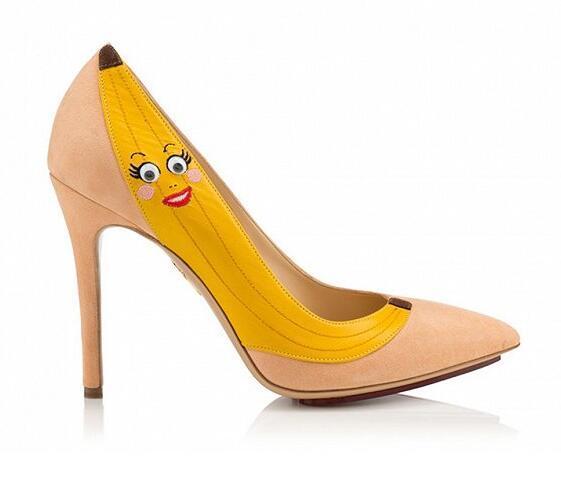 英国品牌Charlotte Olympia春夏新品香蕉高跟鞋