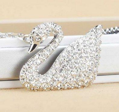 女神节礼物:Swarovski施华洛世奇经典银色天鹅水晶项链 特价520元,包邮到手