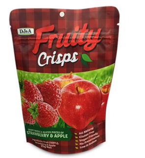 DJ&ampA 100%天然草莓 苹果干 混合装 (低脂) 25g【全场满89澳免邮3kg】