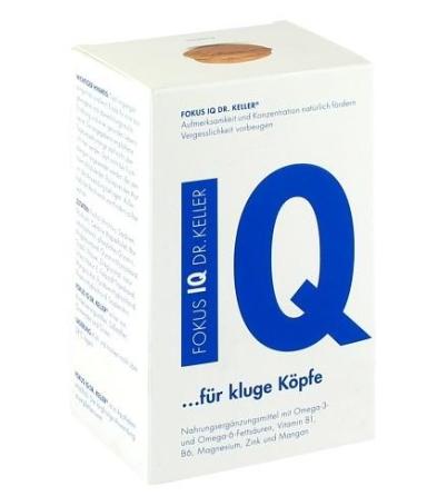 运费仅需5欧(用码BA11Y)+特价FOKUS IQ Dr Keller 健脑胶囊 青少年提高记忆力注意力 120粒