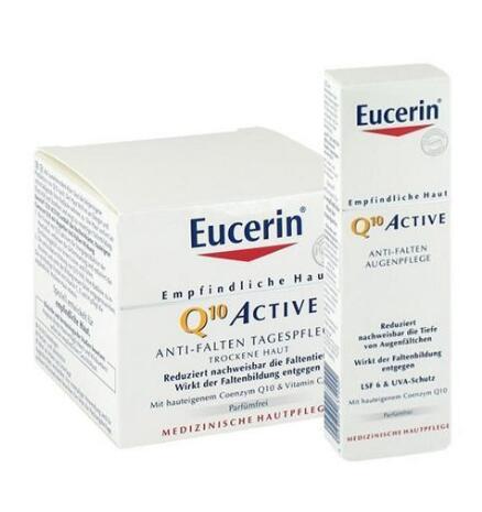 运费仅需5欧(用码BA11Y)+特价 Eucerin 优色林 辅酶Q10紧致眼霜 +保湿祛皱紧致护理霜