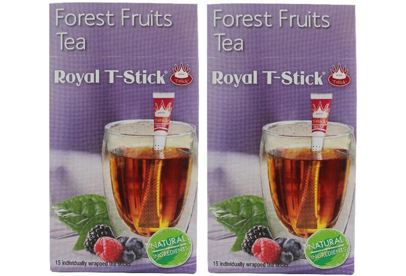 海豚村【2件包邮装】Royal T-Stick 创意茶包茶棒 215包 盒(森林水果阿萨姆红茶)