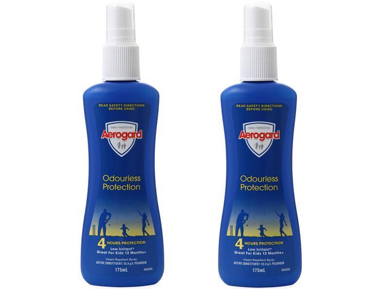 【2件包邮装】Aerogard 澳洲防蚊喷雾 2x175ml 瓶(无味)  包邮包税价:119元