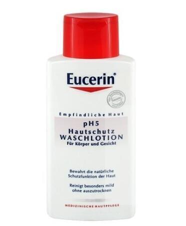 运费仅需5欧(用码BA11Y)+特价 Eucerin 优色林 pH5均衡调理敏感肌肤洁面乳 200ml