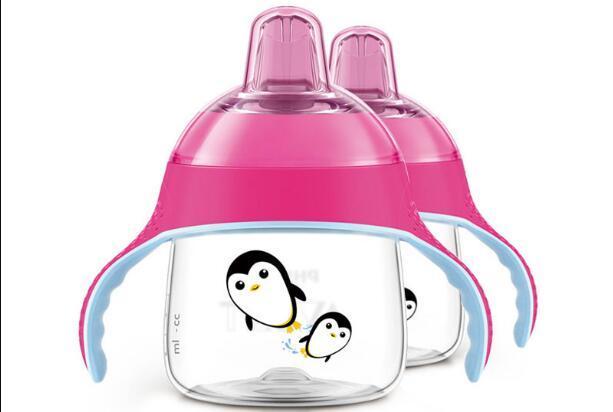 【2件包邮装】Avent 新安怡 新款卡通企鹅杯学饮杯 2200ml 个(红色)  包邮券后价:135元