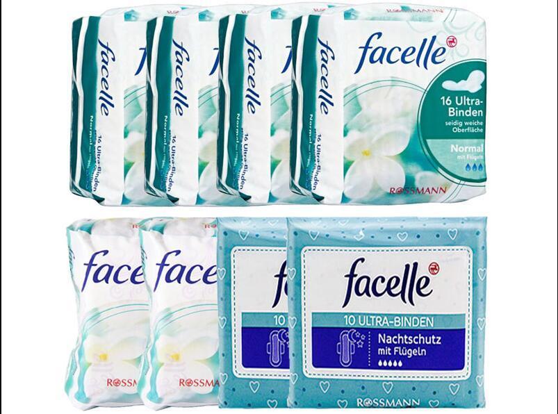 【包邮装】Facelle 菲思乐 日用+夜用卫生巾套装  包邮包税价:119元
