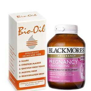 【包邮】Blackmores 澳佳宝 孕期黄金营养素 120粒(有效期至11月) +Bio oil百洛油 200ML |2件 68 5纽约333
