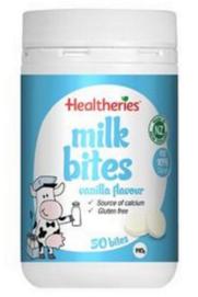 好物推荐 Healtheries 贺寿利 儿童零食高钙干吃牛奶片 50片(香草味)
