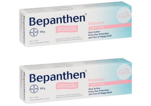 【2件包邮装】Bayer 拜耳 Bepanthen 宝宝护臀霜尿布红疹膏 2X100g 包邮券后价:139元