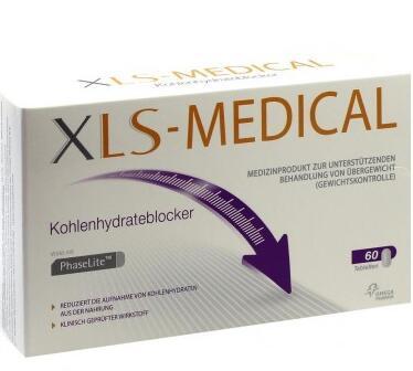 运费首重8欧+满65欧减3欧+特价 XLS-Medical纯天然植物安全瘦身控制碳水化合物片60片
