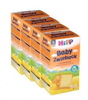 运费首重8欧+满65欧减3欧+特价 Hipp 喜宝 有机全麦磨牙面包干 100g 6个月+ 4盒