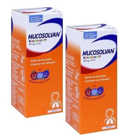 特价 Mucosolvan 沐舒坦儿童去咳止痰糖浆100ml 2+全场满68欧免邮+全场满减+BA生日送豪礼啦!