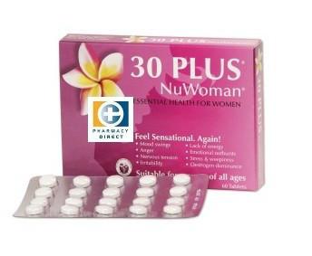 【新西兰药房销售冠军】30 Plus NuWoman 女性荷尔蒙补充剂 60片 用码后两件包邮56 8纽 约¥274