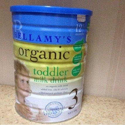 澳洲Bellamy s贝拉米3段婴幼儿配方奶粉 900g 特价AU$29 95,约159元
