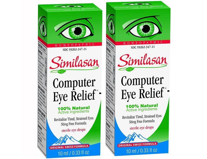 春季大促【2件包邮装】Similasan 电脑用眼专用眼药水 2x10ml 瓶  活动券后价:139元