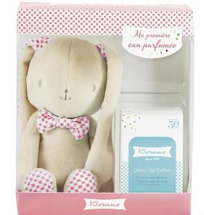 Klorane 蔻萝兰 玫瑰兔礼盒 宝宝香水 50ml+毛绒玩具
