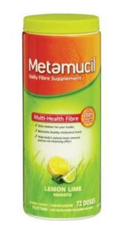 Metamucil美达施 吸油纤维素膳食纤维粉 柠檬味